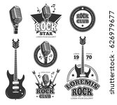 vintage rock and roll music... | Shutterstock .eps vector #626979677
