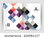 minimalistic square brochure or ... | Shutterstock .eps vector #626981117
