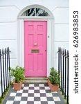 pink door | Shutterstock . vector #626983853