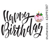 happy birthday lettering for... | Shutterstock .eps vector #626991587