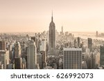 new york city. manhattan... | Shutterstock . vector #626992073