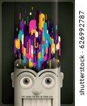 abstract style illustration... | Shutterstock .eps vector #626992787