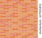orange brick. vector... | Shutterstock .eps vector #627001853