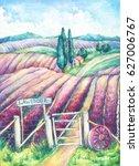 Landscape In Provence. Colorfu...
