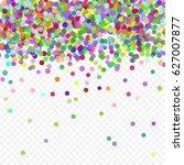 multicolored paper confetti on... | Shutterstock .eps vector #627007877
