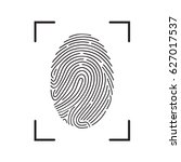 fingerprint scan icon | Shutterstock .eps vector #627017537