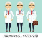 an experienced doctor in... | Shutterstock .eps vector #627017723