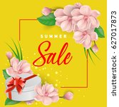 summer sale lettering  gift and ... | Shutterstock .eps vector #627017873