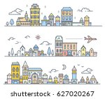 three variation of urban... | Shutterstock .eps vector #627020267