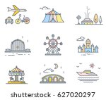 vector collection of retro... | Shutterstock .eps vector #627020297