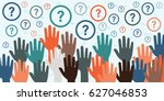 vector illustration with raised ... | Shutterstock .eps vector #627046853