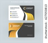 double sided business card... | Shutterstock .eps vector #627053813