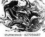 black and white liquid texture  ... | Shutterstock .eps vector #627056687