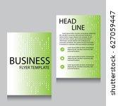 vector brochure flyer design... | Shutterstock .eps vector #627059447