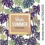 summer tropical background... | Shutterstock .eps vector #627062033