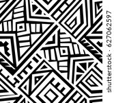 creative ethnic style square... | Shutterstock .eps vector #627062597