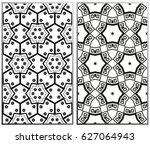 vector monochrome seamless... | Shutterstock .eps vector #627064943