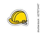 construction helmet doodle icon | Shutterstock .eps vector #627071447