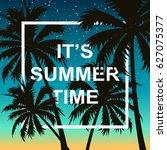 hello summer wallpaper with... | Shutterstock .eps vector #627075377