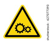 gear sign  symbol  vector ... | Shutterstock .eps vector #627077393