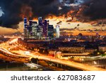 high rise buildings and... | Shutterstock . vector #627083687