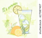 mojito card can be used for... | Shutterstock .eps vector #627087407