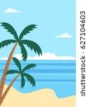 tropical summer beach poster...   Shutterstock . vector #627104603