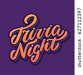 trivia night banner. vector... | Shutterstock .eps vector #627112397