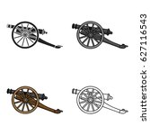cannon icon in cartoon style... | Shutterstock .eps vector #627116543