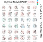 human personality and... | Shutterstock . vector #627119897