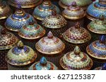 benjarong  a traditional thai... | Shutterstock . vector #627125387