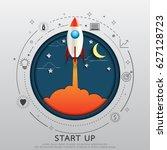 start up business concept... | Shutterstock .eps vector #627128723