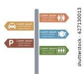 direction infographic design.... | Shutterstock .eps vector #627130013
