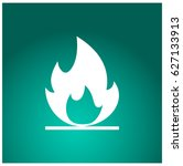 fire icon. | Shutterstock .eps vector #627133913