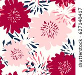 seamless repeat pattern with... | Shutterstock .eps vector #627140417