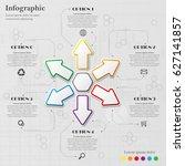 gray info graphic background... | Shutterstock .eps vector #627141857