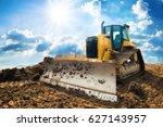 Yellow Excavator On New...