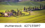 tuscany landscape with old