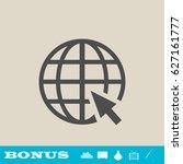 globe web icon flat. simple... | Shutterstock . vector #627161777