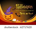 halloween vector  banner | Shutterstock .eps vector #62717620