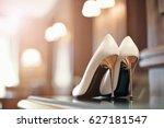 beautiful bridal stiletto heel... | Shutterstock . vector #627181547