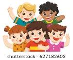 group best friends happy...   Shutterstock .eps vector #627182603