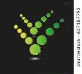 green circle symbol check mark... | Shutterstock .eps vector #627187793
