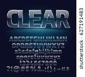glass vector set of alphabet... | Shutterstock .eps vector #627191483