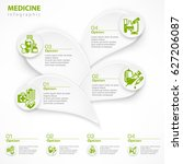 medical green infographic with... | Shutterstock .eps vector #627206087