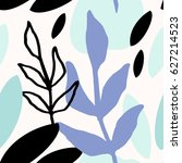 seamless repeat pattern with... | Shutterstock .eps vector #627214523