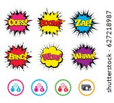 comic wow  oops  boom and wham... | Shutterstock .eps vector #627218987