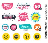 sale shopping banners. special... | Shutterstock .eps vector #627220343