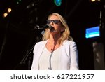 Small photo of Camp Bestival - July 31 2016: Sara Dallin singer with British new wave girl band Bananarama performing at Camp Bestival, Lulworth, Dorset, July 31st 2016 in Dorset, UK