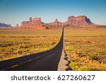 classic panorama view of... | Shutterstock . vector #627260627